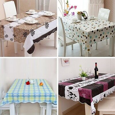 New Banquet Party Plastic Waterproof Table Cloth Tablecloth Dinning Table Cover