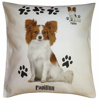 Papillon Paws Breed of Dog Cotton Cushion Cover - Perfect Gift
