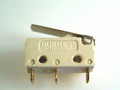 Burgess V4T7Y1GP Microswitch 5A Lever Action Push Button SPCO OM0606A