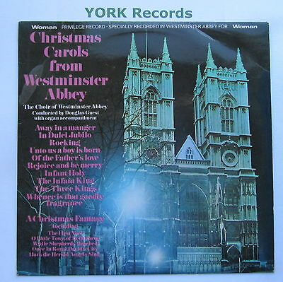 CHRISTMAS CAROLS FROM WESTMINSTER ABBEY - Excellent Con LP Record Woman AZ 14
