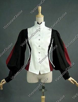 Victorian Equestrian Vintage Riding Habit Blouse Shirt Top Steampunk Gothic B024