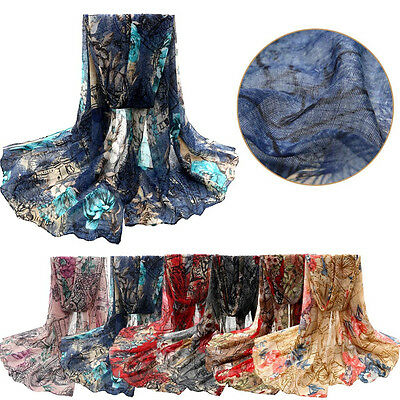 Fashion Women Scarves Infinity Voile Stole Scarves Long Neck Shawl/Wrap Scarf