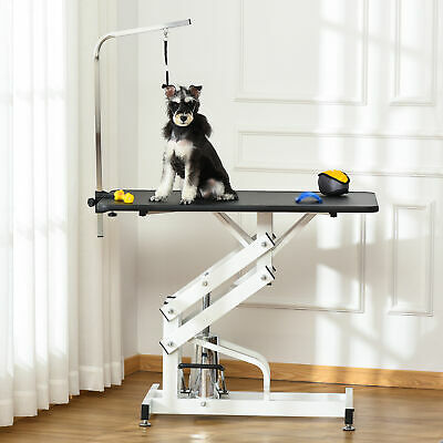 Hydraulic Grooming Table Pet Dog Deluxe Supply Adjustable Height Type Z