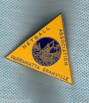 #d184.  Parramatta Granville Netball Association  Lapel  Badge