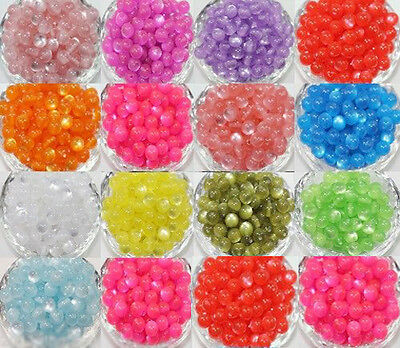 Wholesale 50Pcs Cats Eye Round Spacer Loose Charms Beads Jewelry Making DIY 8mm