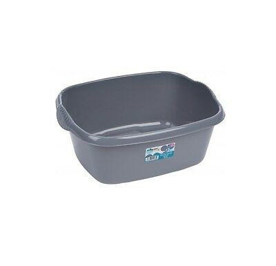Wham - 38cm Rectangle Plastic Washing Up Sink Bowl - Silver