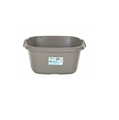 Wham - 32cm Square Plastic Washing Up Sink Bowl - Mocha