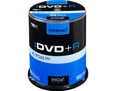 100 Intenso DVD+R Rohlinge 16x 4,7GB  in Spindel