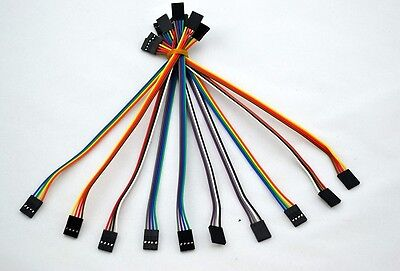 10pcs 4pin 20cm 2.54mm Female to Female jumper wire Dupont cable for Arduino