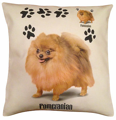 Pomeranian  Paws Cotton Cushion Cover - Cream or White Cover - Gift Item