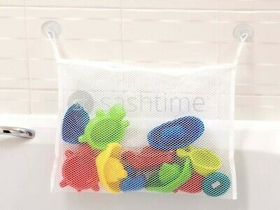 Kids Baby Bath Time Toy Tidy Storage Suction Cup Bag Mesh Bathroom Organiser Net