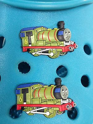 2 Percy (Thomas The Tank Engine) Shoe Charms For Crocs & Jibbitz Wristbands.