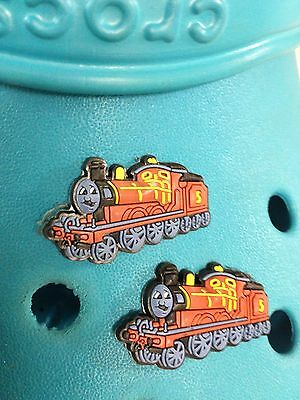 2 James (Thomas The Tank Engine) Shoe Charms For Crocs & Jibbitz Wristbands.
