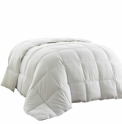 Piped Edges Super Soft White Down Alternative Comforter King w/Corner Tabs
