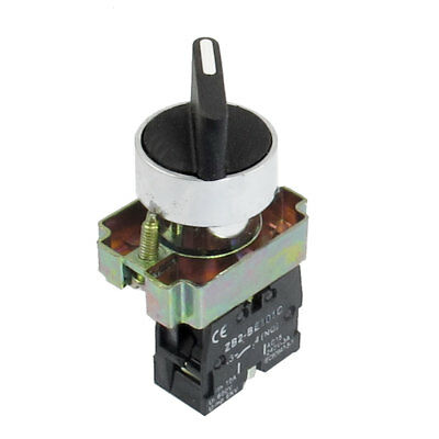 AC 600V 10A 1 NO N/O Self Lock 2 Postion Rotary Selector Switch 22mm ZB2-BE101C