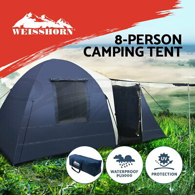 WEISSHORN 8 Person Family Camping Dome Tent Canvas Swag Hiking Beach