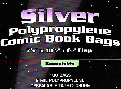 1000 Silver Resealable Bags and Boards BCW Archival Comic Book Storage