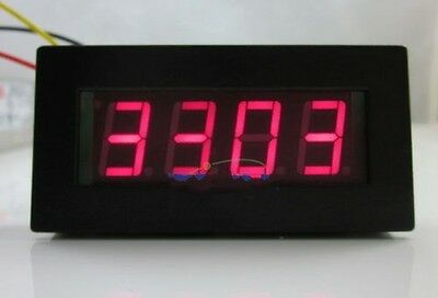 "New 4 Digital Red LED Tachometer RPM Speed Meter 5-9999RPM 12V 0.56"" LED"
