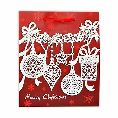 3 x Small Luxurious Christmas Gift Bag -Decorative Glitter Paper Bag
