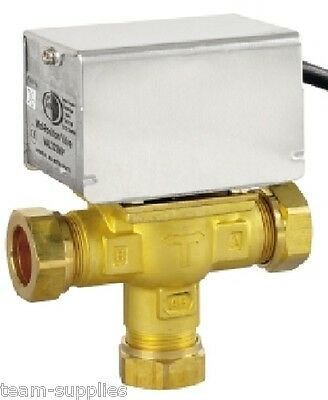 TOWER 22mm 3 PORT MID POSITION MOTORISED VALVE 5 WIRE REPLACES HONEYWELL V4073A