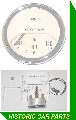 SMITHS WATER TEMPERATURE GAUGE - 50-140 Centigrade MAGNOLIA FACE