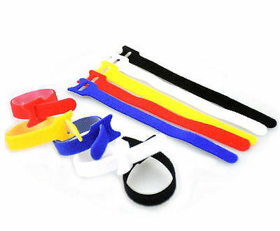 Adjustable Releasable Reusable Hook And Loop Cable Ties, Cable Tidy Strap