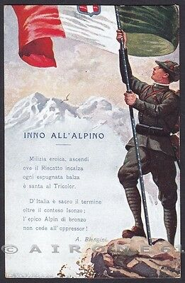 MILITARE 1a GUERRA 363 INNO ALL'ALPINO - A. BLENGINI Cartolina viaggiata 1918