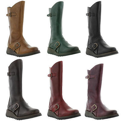 Fly London Mes 2 Womens Mid Calf Zip Up Leather Boots Size UK 4-8