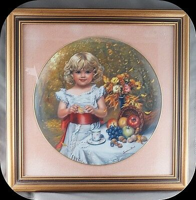 Sandra Kuck Indian Summer Collector Plate In Beautiful Frame