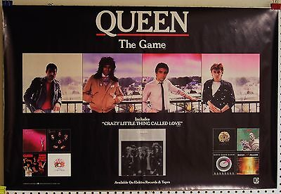 Queen-The Game and Elektra Catalogue-ORIGINAL 1980 US PROMO Poster-NOS!