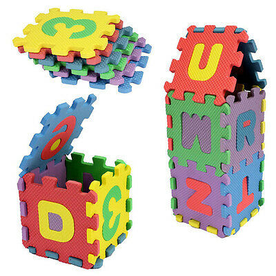 Hot 36pcs Mixed Foam Number Letter Soft Educational Puzzle Kid Toy Yoga Game Mat