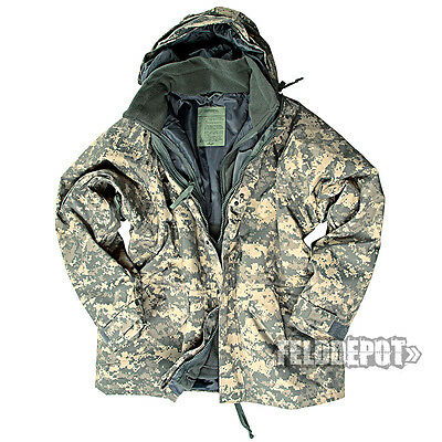 US Parka Nässeschutz ECWCS AT-Digital Camo + Fleecejacke Regenjacke