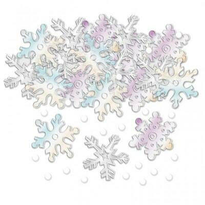 Christmas Snowflakes Iridescent Table Confetti Sprinkles 14g