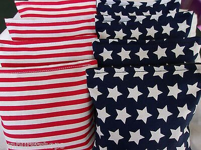 ACA Regulation Corn Hole Bags Set of 8 USA Stripes and Stars Bean Baggo
