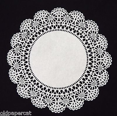 "100 - 10"" White CAMBRIDGE LACE PAPER DOILIES for Parties Weddings Invitations"