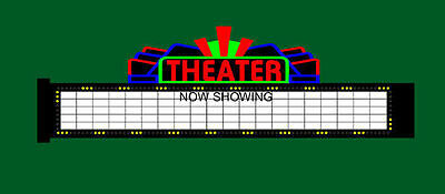Theater Marquee Animated Billboard Sign N HO Scale Miller 1182