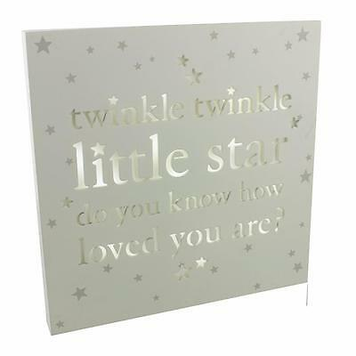 Baby Gift Nursery Light Up Box - Twinkle Star Wall Decoration Sign Plaque CG1183