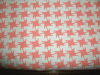 """PINK HOUND'S TOOTH DESIGN COTTON UPHOLSTERY FABRIC - 40"""" x 60"""""""