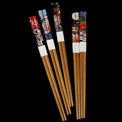 Nice 5 Pairs Eco-friendly Cat Chopsticks Japanese Wood Lacquer Chopsticks Gift