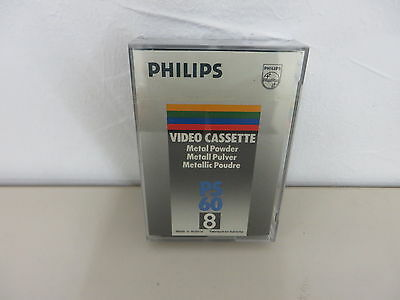 Unused Philips Video8 Cassette P5 60Min. Orig. Box 12 Months Warranty*