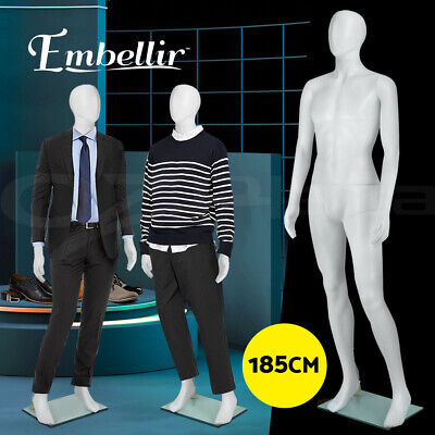 Embellir Male Mannequin Full Body 185cm Head Torso Clothes Display Dressmaking