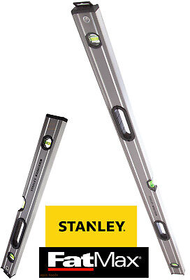 STANLEY FatMax TWIN SET 120cm 4ft + 60cm 2ft Spirit Beam/Box Builder Brick Level