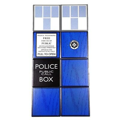 Official Doctor Who TARDIS Collectable Ceramic Coaster Set x 8 - Boxed Gift New