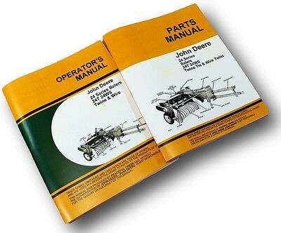 John Deere 24T 24Ws Baler Owner Operator Service Parts Catalog Manual Wire Twine