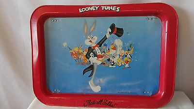 Warner Brother Inc. Bugs Buuny and Friends Looney Tunes 1990 TV Tray H296.