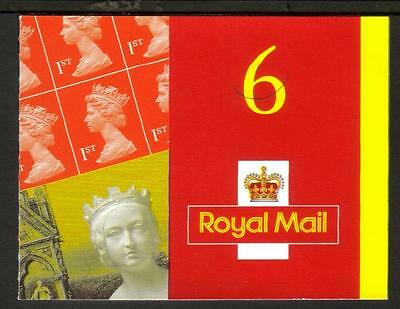 Gb 2001 Mb2 6 X 1St Class Plus Queen Victoria Label Barcode Booklet