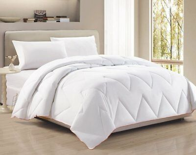 White Chevron ZigZag Down Alternative Comforter Duvet Insert Queen Orange Border