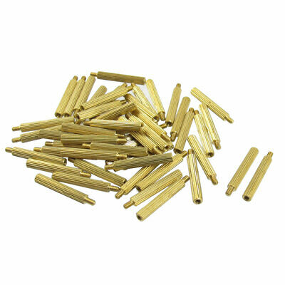 50 Pcs Gold Tone Male Female Hexagonal PCB Standoff Spacers M2x19mmx22mm