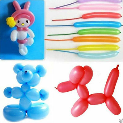 Hot 20/50/100Pcs Mixed Long Latex Balloons Wedding Birthday Party Decor Supplies