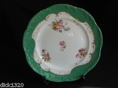 "ANTIQUE SEVRES PORCELAIN HAND-PAINTED 9"" PLATE 4/478 c.1800's J-F Micaud?"